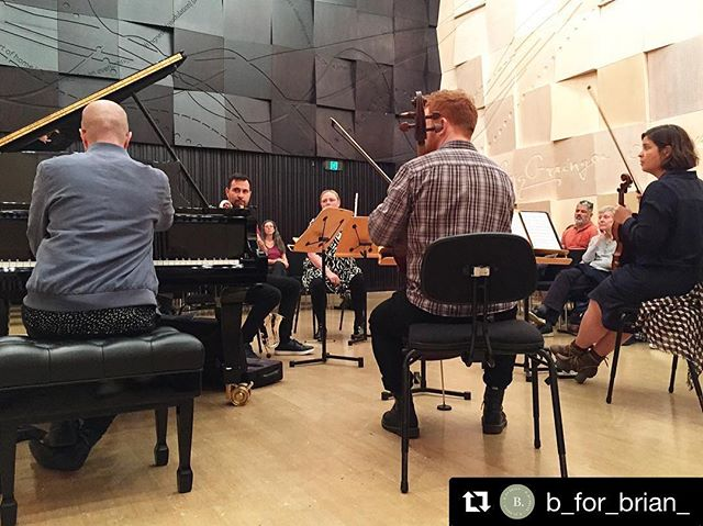 We've been super busy preparing our final concert of the year, next Wednesday the 14th at 6pm. Thanks for the pic of Monday's open rehearsal, we had a lovely crowd who got to see us in action ahead of next week's show. #newmusic #chambermusic #melbourne #Repost @b_for_brian_ with @get_repost ・・・ Lunch time music. Watching rehearsals are so beautiful and fascinating 😍🎶 Melbourne Recital Centre is the best listening venue 💕 @melbrecital @SyzygyEnsemble