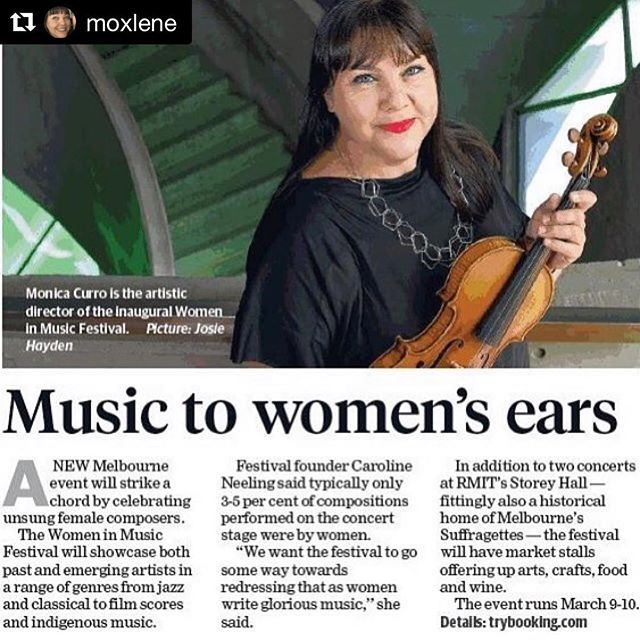 Wonderful!! @moxlene #womeninmusic  #Repost @moxlene with @get_repost ・・・ 9th and 10th March come to our celebration of brilliant women in music! #music #womeninmusic #iwd2019 #rmit #kawaiaustralia