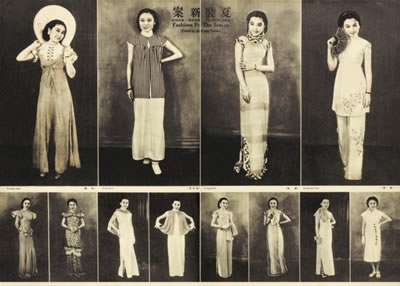 d601b9b57 The evolution of fashion in 1930s Shanghai Consisted of a mix in Eastern and  Western clothing