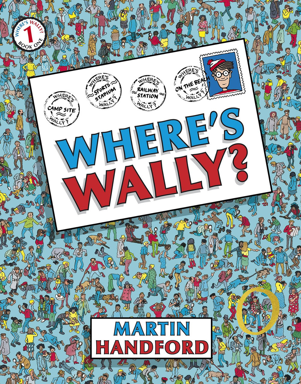 WHERE'S WALLY? (R160)   The original book which kick-started the worldwide Wally phenomenon! Search for Wally and his friends as they hike round the world – on the beach, at the train station, at sea...they're fiendishly hidden in every intricately-detailed scene and there are lots of other things to look for too. Hours of fun and games await.  While enjoying this book and searching for Wally and his friends, important developmental skills such as visual perception, concentration, attention span and cognition are promoted.  Suitable for ages 5 years and older.