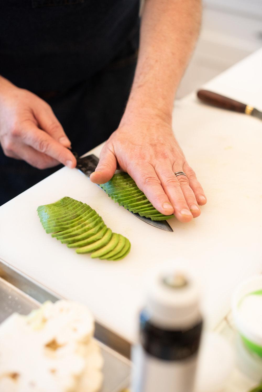 Fanning avocado