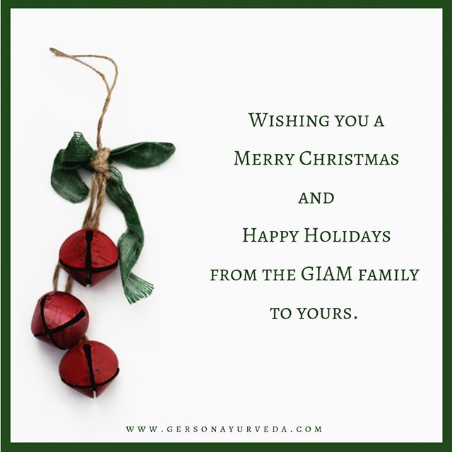 Dr Scott Gerson and the entire team at The Gerson Institute of Ayurvedic Medicine want to take a moment to wish you all a very Merry Christmas. We send you blessings of love, family, good health, and peace this holiday season. ⠀ ⠀ www.gersonayurveda.com/⠀ ⠀ #merrychristmas #christmas #christmaseve #happyholiday #ayurveda #giam #florida #orlando #ayurveda #ayurvedicdoctor