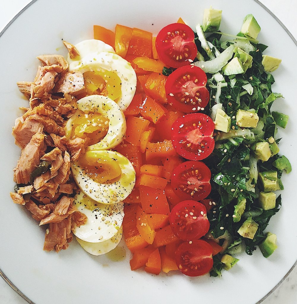 Chopped Rainbow Nicoise -