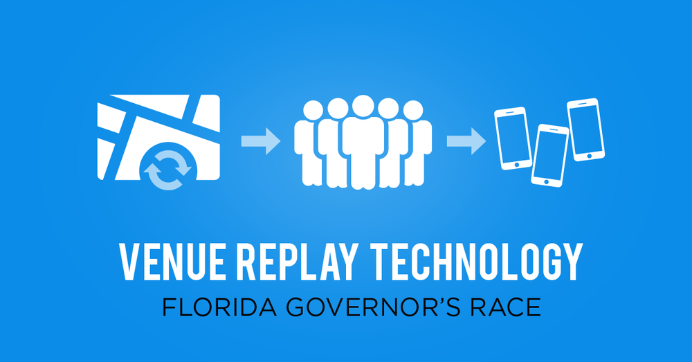 """Best Independent Expenditure Campaign - Governor  """"Venue Replay Technology"""" – Florida Governor's Race (Bronze)"""