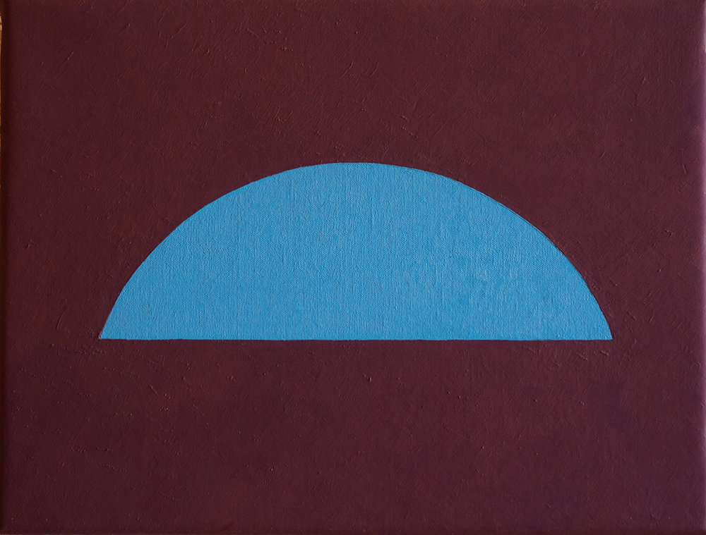 ARCHES (BLUE) , 2018  OIL ON LINEN  32 x 42 CM