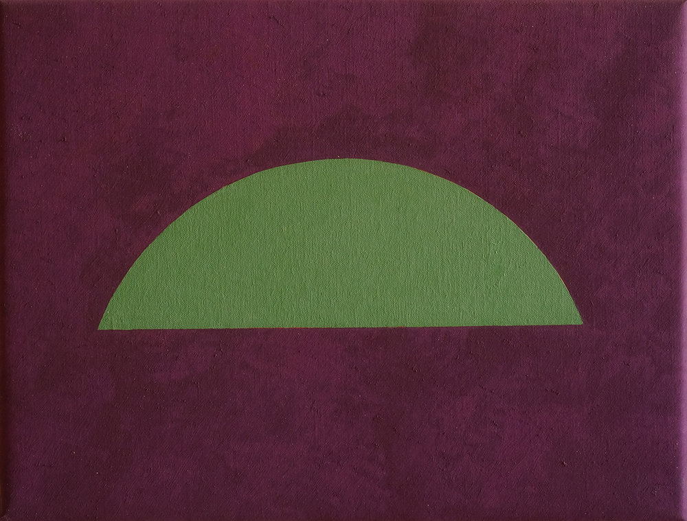 ARCHES (GREEN), 2018  OIL ON LINEN  32 x 42 CM