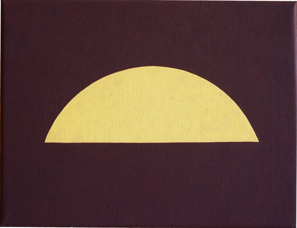 ARCHES (YELLOW), 2018  OIL ON LINEN  32 x 42 CM