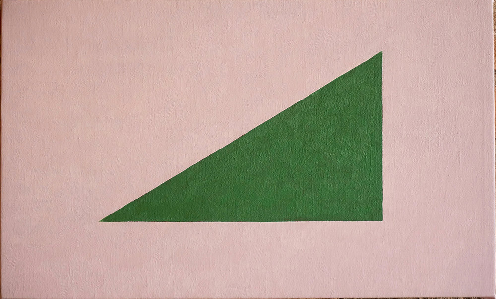 FLAG, 2018  OIL ON LINEN  32 x 42 CM