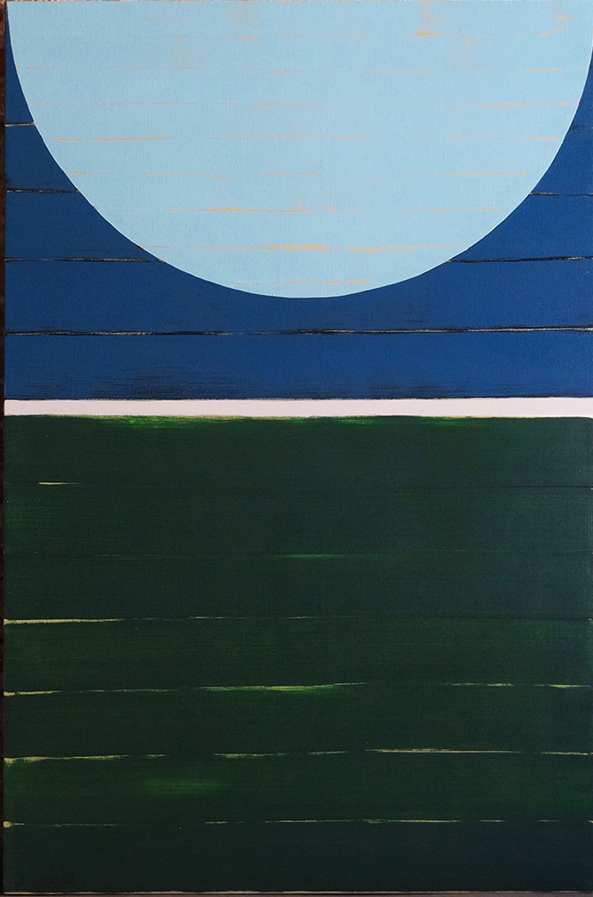 MOON OVER THE ZATTERE (LOW TIDE) , 2018  OIL AND ACRYLIC ON LINEN  120 x 80