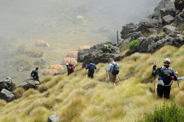 Mt Kenya. Descending to Michaelson.