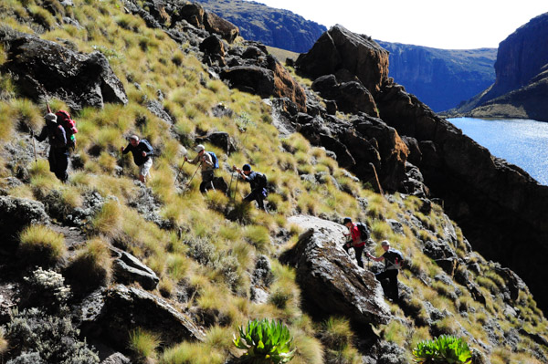 Climbing up from Michaelson. Mt Kenya