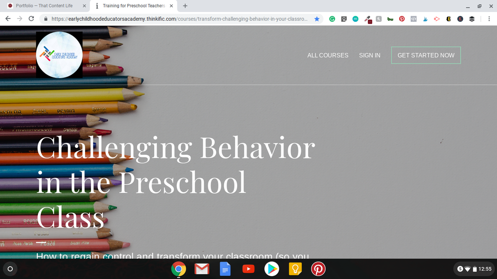 Landing Page - Early Childhood Educators Academy