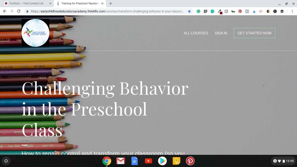 Landing Page - Early Childhood Educators Academy