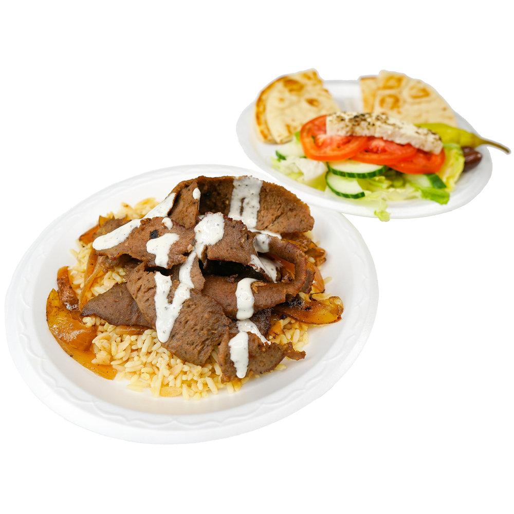 Gyro Rice Pilaf Plate