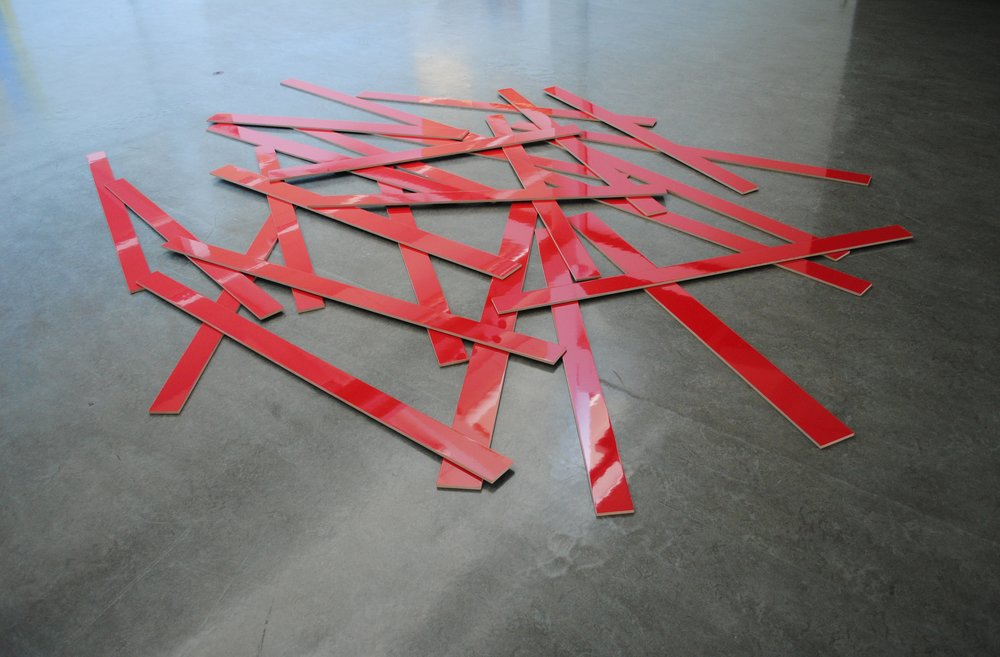 Ephemeral , 2011   Lacquer on MDF, 220 x 220 cm  Open Space , Zoellner Arts Center, PA, USA, 2011 Photo: Christine Istad