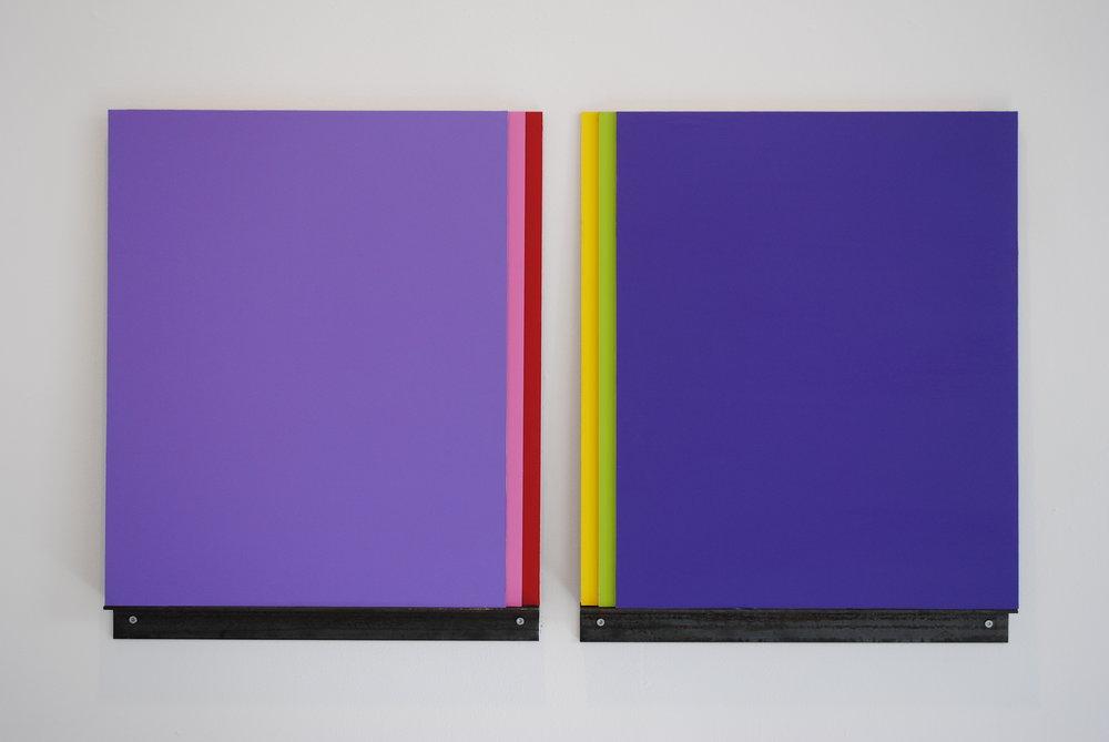 Untitled,  2010 Acrylic on MDF, 60 x 55 x 2 cm  I See You , LNM, 2010