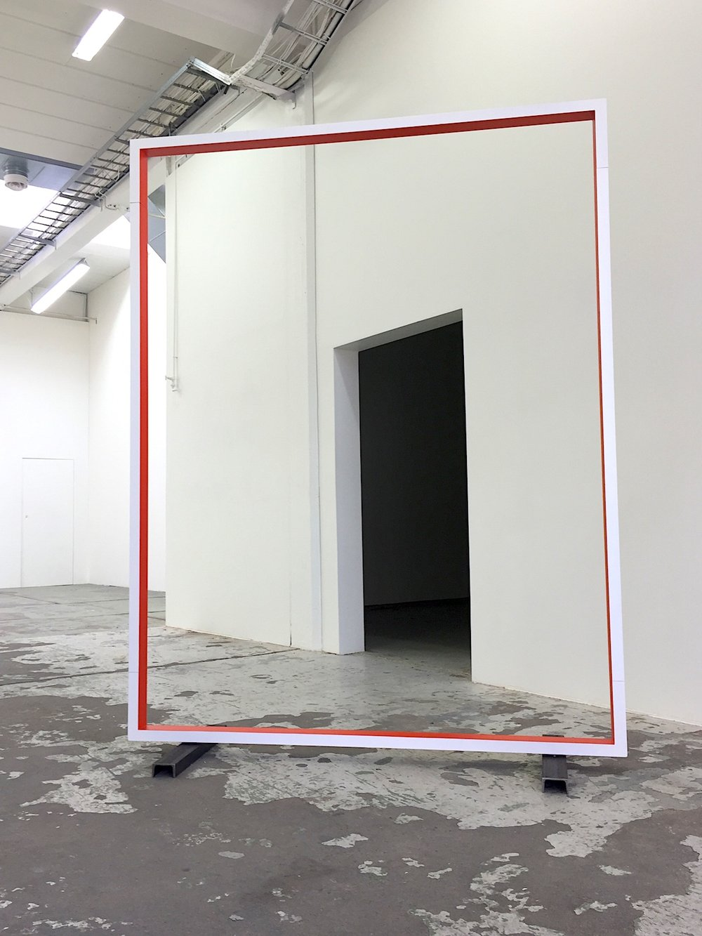 Gate , 2015 Lacquer on MDF, 220 x 150 cm Bærum Kunsthall, 2017 Photo: Christine Istad