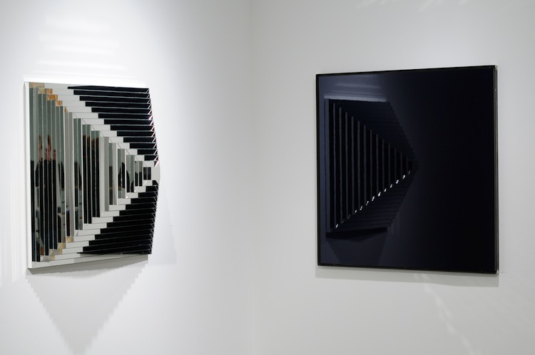 Det innerste rom , 2011 (right) Laquer on MDF, 90 x 90 cm  Open Space , Zoellner Arts Center, PA, USA, 2011 Photo: Christine Istad