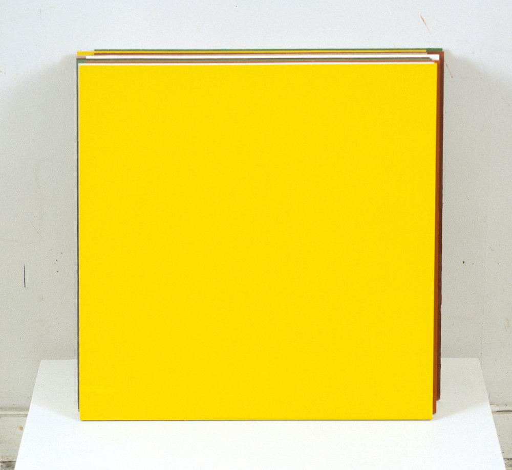Kontroll,  2002 Acrylic on wood, 43 x 40 cm  Se , Kunstnerforbundet, 2002 Photo: Finn Arne Johannesen
