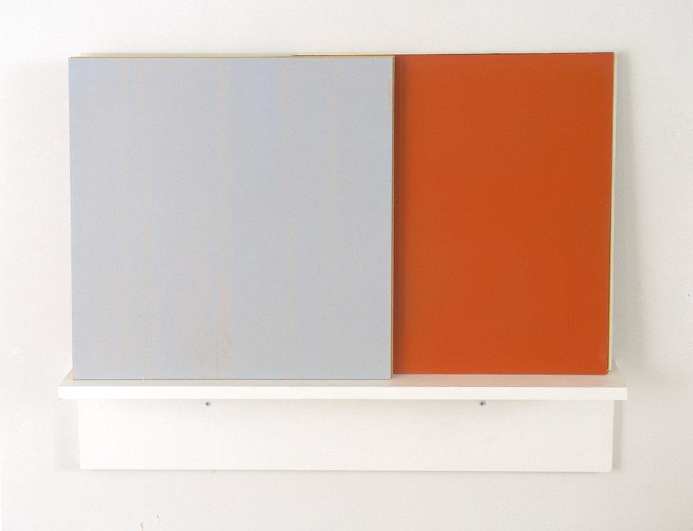 Untitled , 2002 Acrylic on wood, 45 x 80 cm  Se , Kunstnerforbundet, Oslo, 2002 Photo: Finn Arne Johannesen