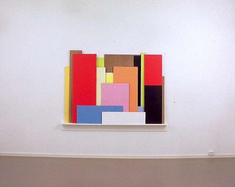 Sammensatt , 1998 Acrylic on wood, 130 x 180 cm Akershus Kunstsenter, Lillestrøm, 1998