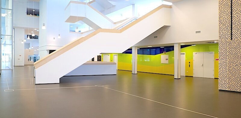 Zenith , 2014 Formica, 2,5 x 11 m Comission Amalie Skram videregående skole, Bergen