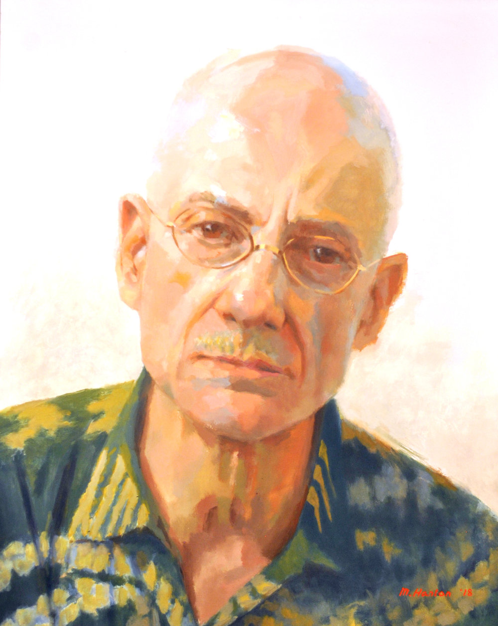 FIRST PLACE:   James Ellroy  - by artist Mike Hanlon