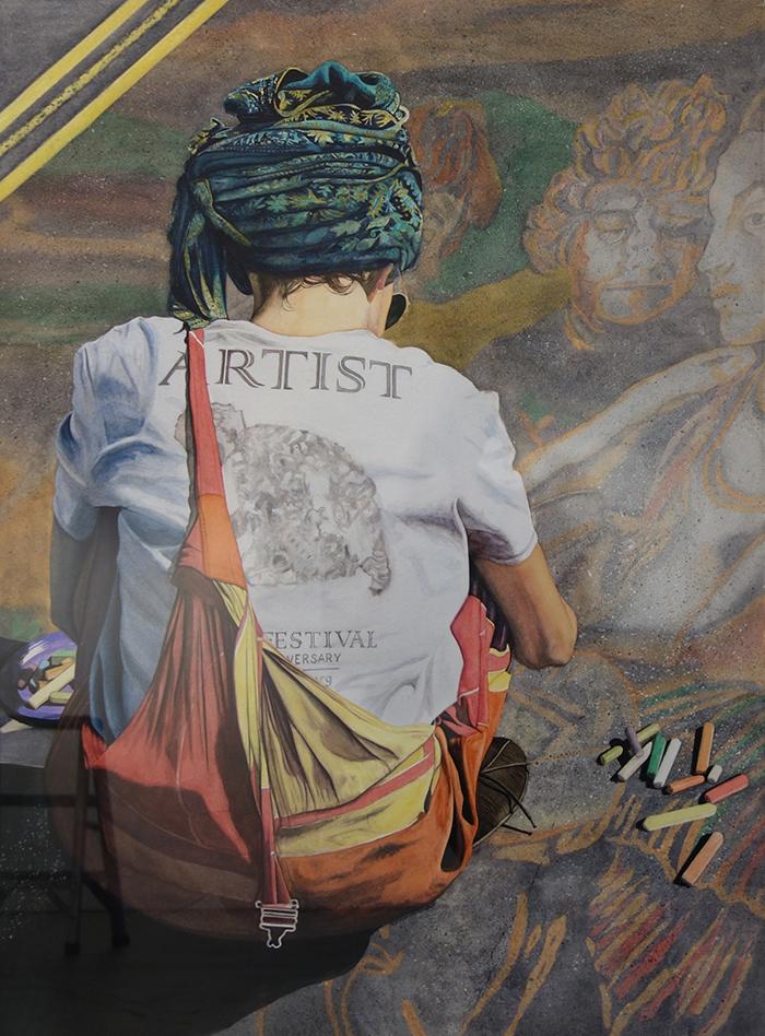 THIRD PLACE: THE CHALK ARTIST BY KATHY SIMON-MCDONALD