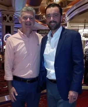 Mark Yusko  (left),  Vance Barse  (right),  at the FA Inside Alternative Investments & Asset Allocation Conference in Las Vegas, September 24, 2018.