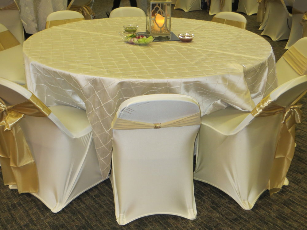 Spandex chair cover and ties.JPG