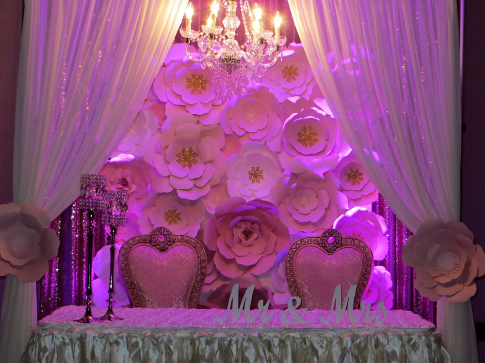 Head Tables and sweetheart tables -