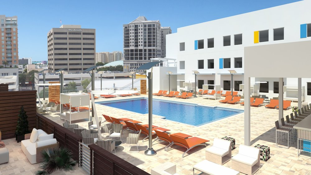 Aloft Hotel Pool
