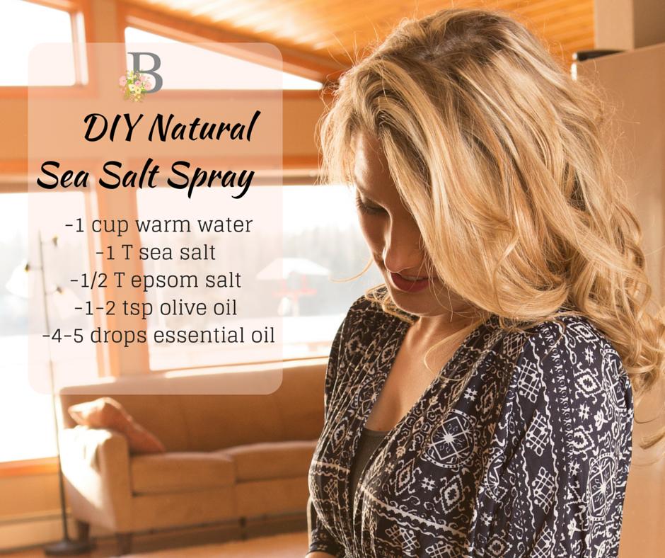 DIY Natural Sea Salt Spray