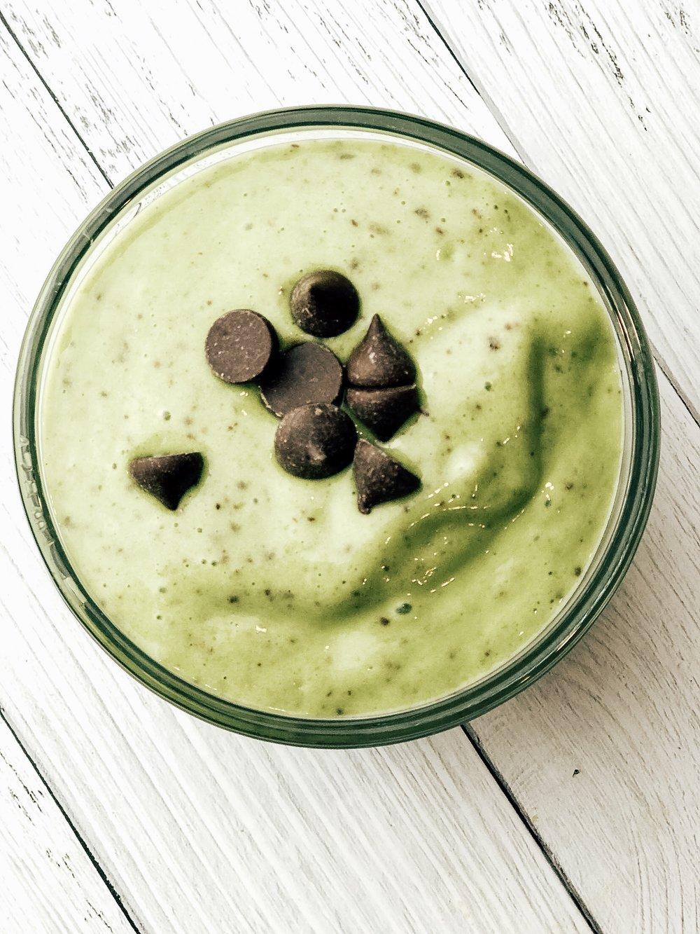 Dairy Free Shamrock Mint Chocolate Chip Icecream
