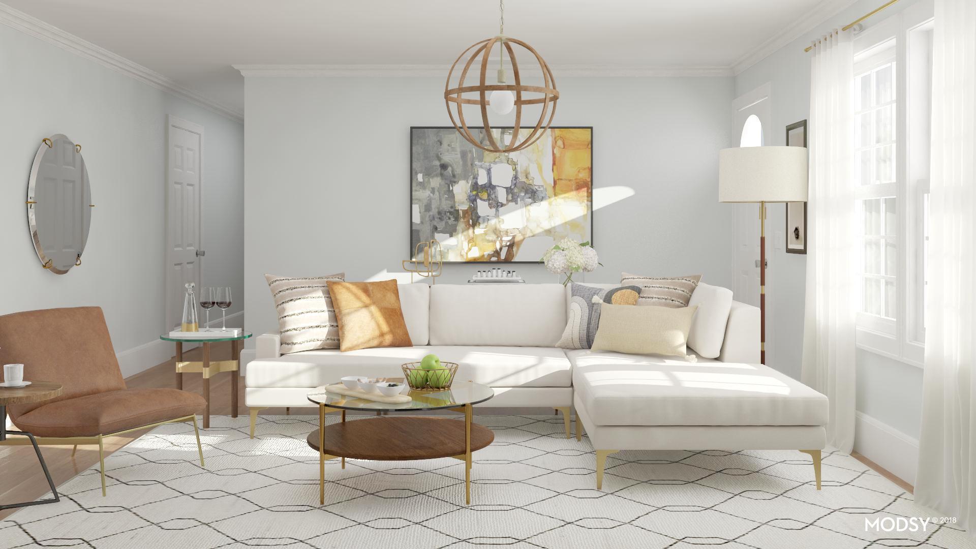 Warm Rustic Transitional Living Room K T Designs