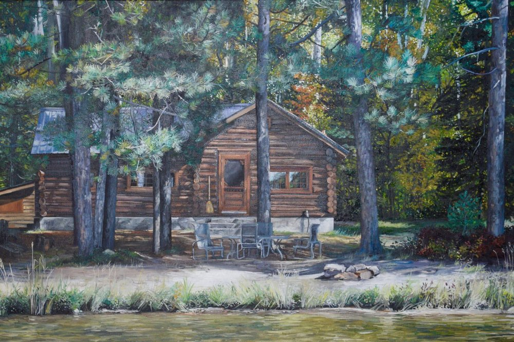 "camp quehl, 2015, oil on canvas, 30"" x 20"""