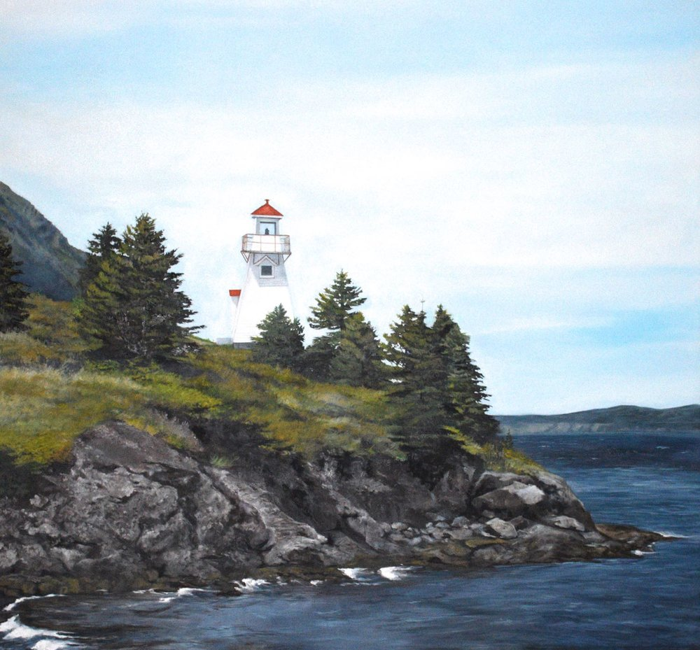 "light house, 2014, oil on canvas, 60"" x 60"""