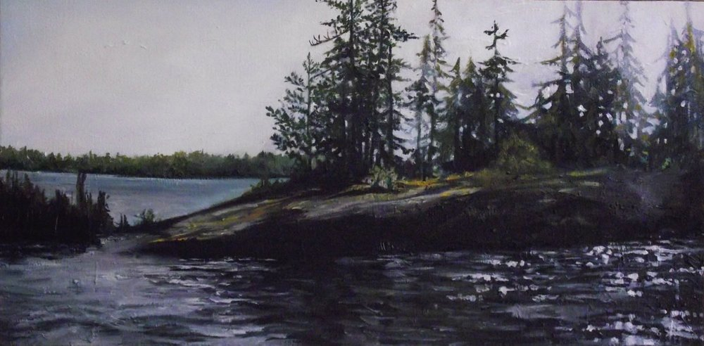 "north bay, 2013 oil on canvas, 24"" x 12"""