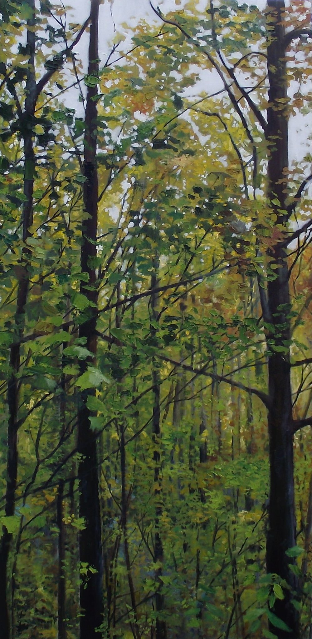 "on spiced rum 3/3, 2012, oil on canvas, 24"" x 48"""