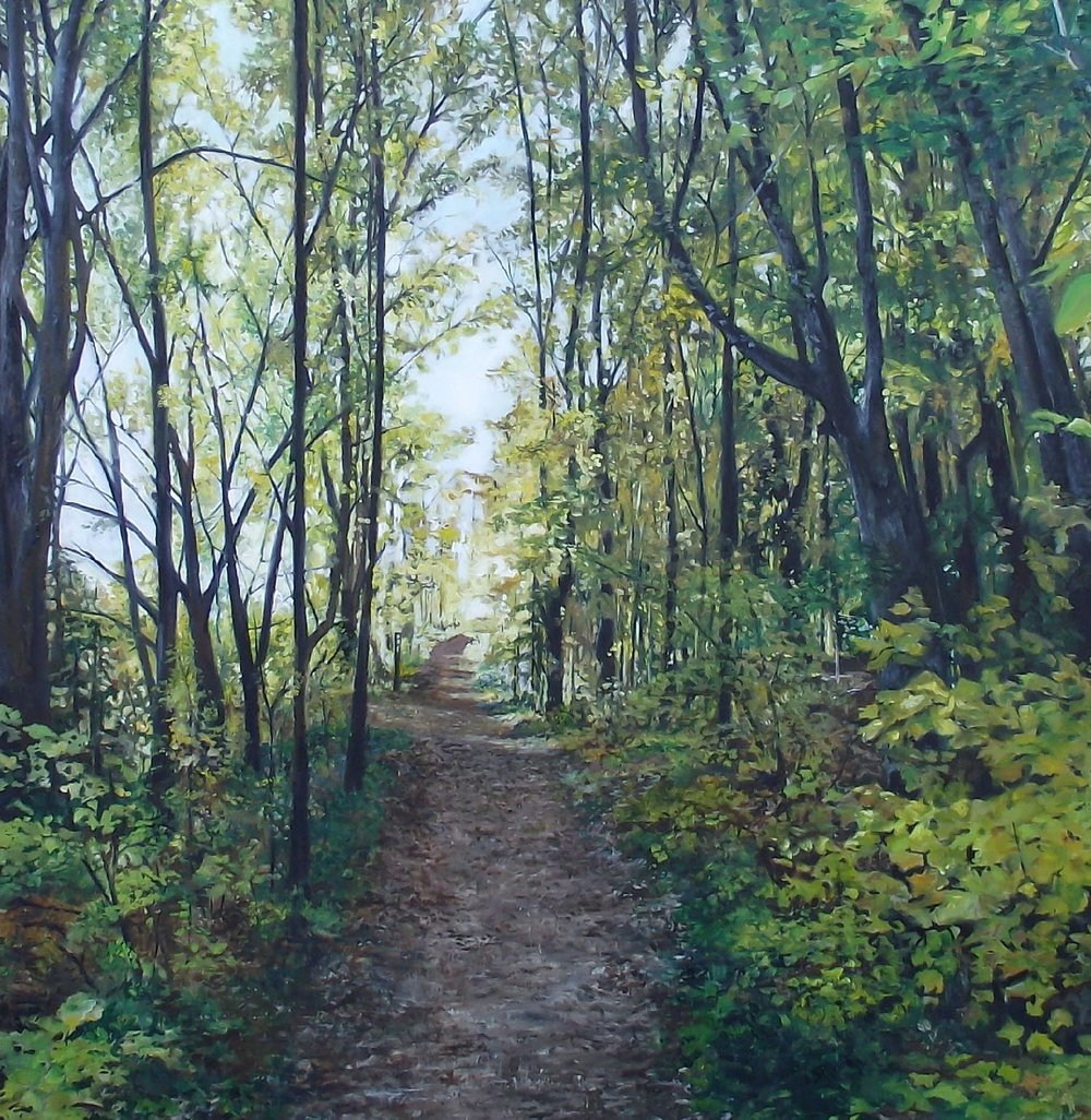 "sunday afternoon, 2011, oil on canvas, 54"" x 54"""