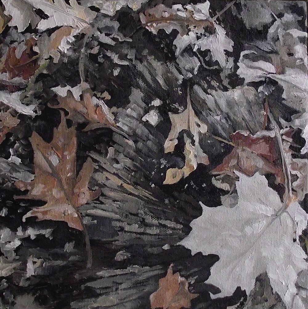 "forest foliage 1/3, 2013, oil on canvas, 8"" x 8"""