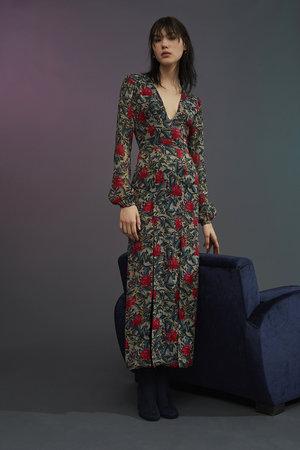 6036a582412 Hydrangea Metallic Silk Dress