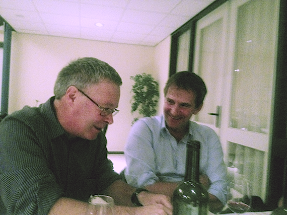 David Wardle and Richard Bardgett at the EcoFINDERS meetings in November 2012 in Wageningen, Netherlands