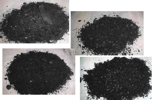 Figure 1 – Different types of biochar: