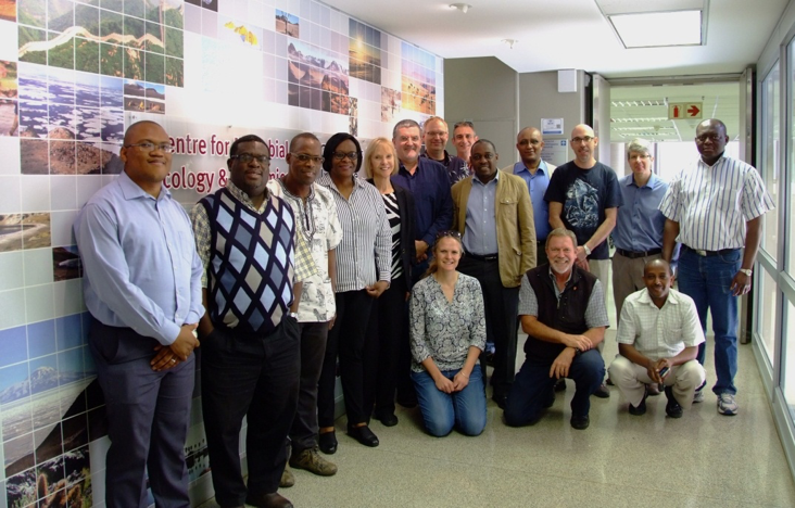 The African Soil Microbiology project team, in the Centre of Microbial Ecology and Genomics laboratories at the University of Pretoria, South Africa.