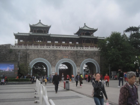 Xuanwu gate to the old Nanjing City Wall                                         Photo credit E.Bach