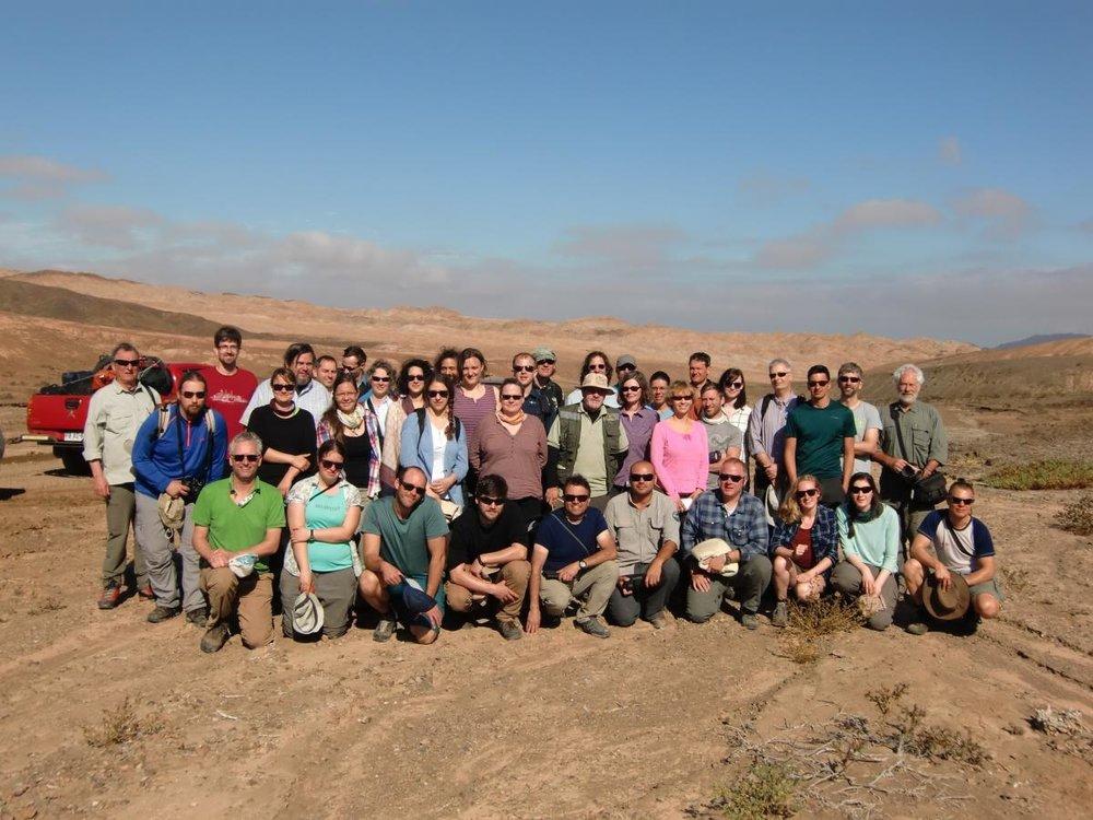 EarthShape project team, Pan de Azúcar National Park, Atacama Desert, Chile. Credit: Leandro Paulino