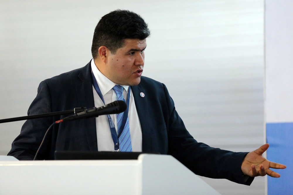 Ronald Vargas, Soil and Land Officer at FAO and Secretary of the Global Soil Partnership. Photo credit  IISD Reporting Services.