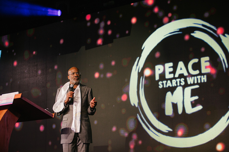 Bishop Noel Jones gave an inspirational message that reminded us of the importance of each individual in the realization of peace.