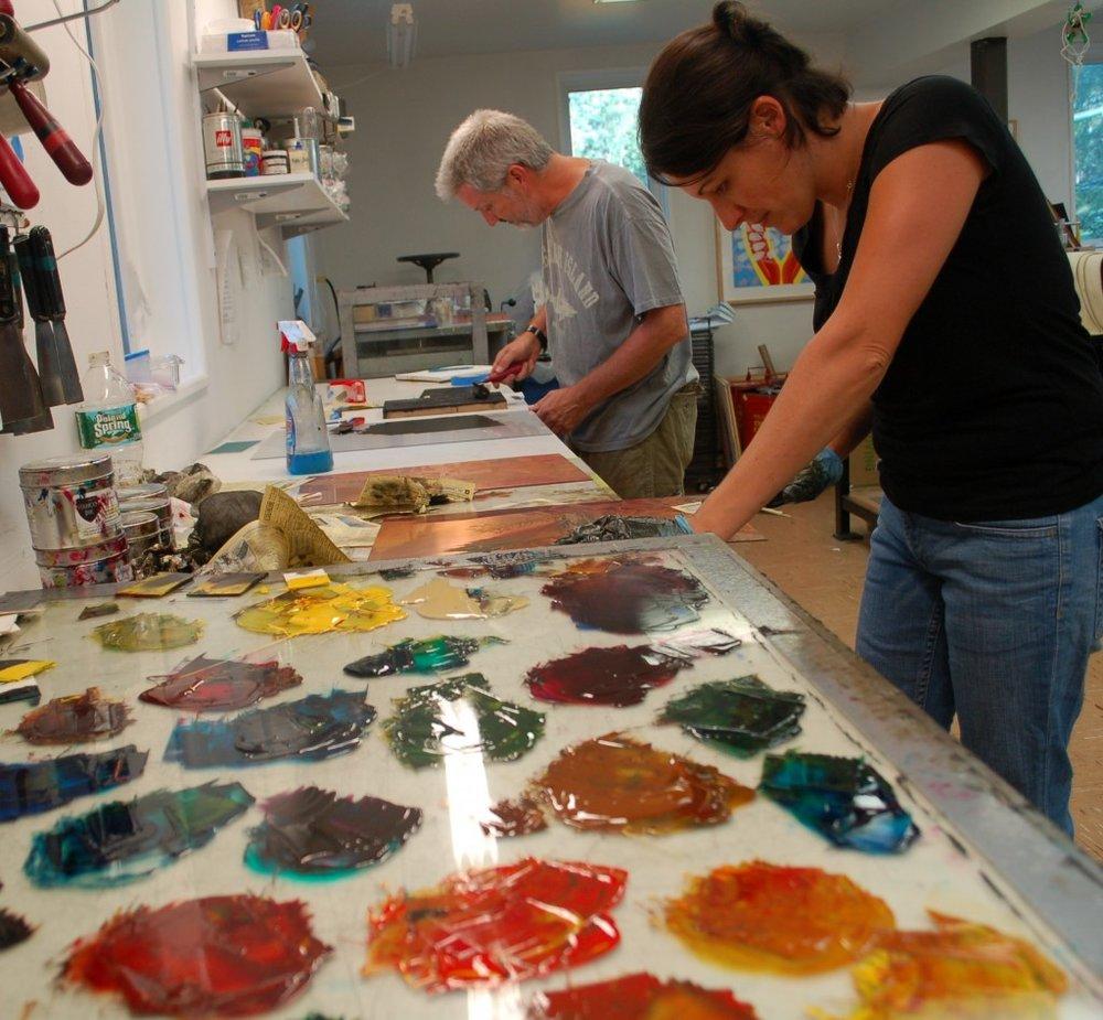 Printmaking Center of NJ Studio, photo by Linda Helm Krapf
